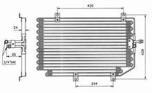 Auto Car AC condenser For Alfa/GTV,Spider -- 60604153,60626234
