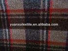 double faced tartan wool blend fabric