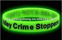 2013 Silicone Band/Glow in the dark Silicone Bracelet/gifts
