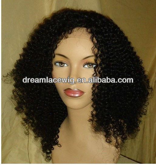 ... wigs > Short Kinky Curly Wig For Black Women Peruvian Hair Glueless