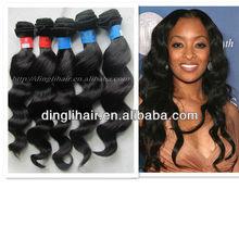 100% unprocessed vigin human hair weave loose weave brazilian hair