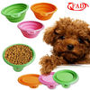 Silicone Pet Travel Feeder Bowl Collapsible, Colorful Vary Flexible Pet Bowls