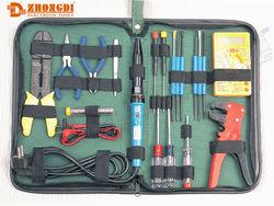 High quality 12pcs (multimeter, precision screwdriver,wire stripper & cutter,etc) computer repair tool kit of Ningbo ZD