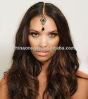 Gold Crystal Bridal Chain Mang Tikka Grecian Headpiece Hair Piece