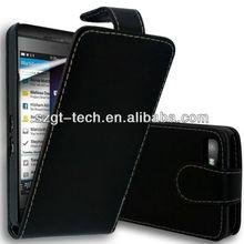 flip cover leather case for Blackberry Z10