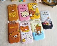 cute Rilakukuma bear panda cartoon case for Samsung Galaxy S3 SIII i9300 all-round cover TPU hard mobile phone case
