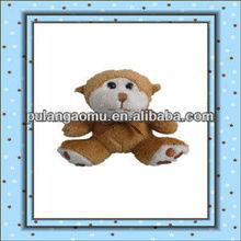 Plush Soft Mini Cute Sitting Monkey With Embroidery Keychain