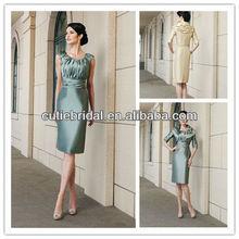 8996 Elegant Summer Knee Length Garden Wedding Mother of Bride Dress