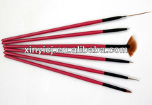 NEW PRODUCTS FOR 2013 Nail Art Brush Set Nylon Hair Nail Art Design Brush Set Acrylic Nail Brush E002