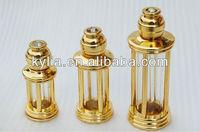 3ml 6ml 12ml gold metal perfume bottle