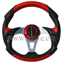 PU+PVC Universal Racing Steering Wheel