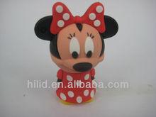 lovely popular mini Mickey PVC carton USB Flash Drive accept paypal