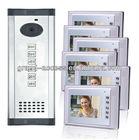 Six Floor User Colorful 7 inch Video door phone,multi apartments video door phone