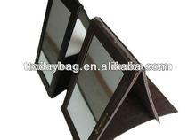 Black men leather fold mirror