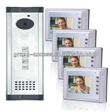 Four Floor User Colorful 7 inch Video door phone,multi apartments video door phone