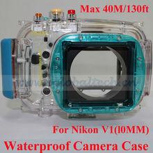 40M/130ft Waterproof Underwater Case, Waterproof Camera Case for Nikon V1(10mm Lens), Waterproof Digital Camera Pouch Case