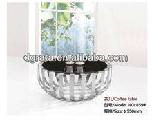 2013 new style round coffee table is used chrome and Tempered glass to be finished for the living room house furniture