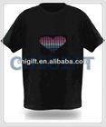 Sound Active Cotton EL LED T-shirts