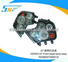 Howo headlight , heavy truck headlight WG9925720001/ WG9925720002