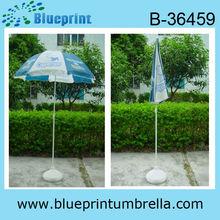 marco de metal personalizado de marca deimpresión playa paraguas