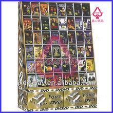Cardboard CD Retail Display with 24 Pockets