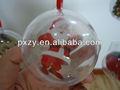 de vidrio transparente bola de navidad