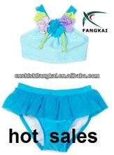 2013 vendita calda nuovo bambino- ragazze costume da bagno bambino con il fiore costume da bagno