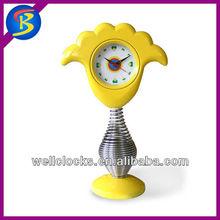 children cartoon shape spring clock