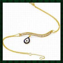 22K gold plateTrendy Evil Eye Bracelet with Cubic Zirconia Stones