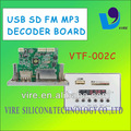 Vtf-002c usb sd fm de placa de circuito mp3