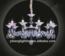 2013 new Italian design white glass chandelier, 6-8 arms