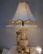 Wood Fashion Art Table Lamp with beatiful lampshade and phone call function