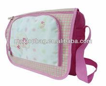 Girl messenger bag,300D/PVC, monkey pattern, zippered compartment & adjustable shoulder strap