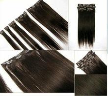 tangle free no shed stock 100% human hair brazilian virgin hair clip on hair extension