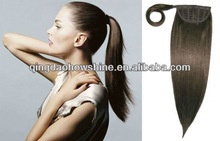 factory price stock 100% human hair malaysian remy ponytail clip in remy human hair extension
