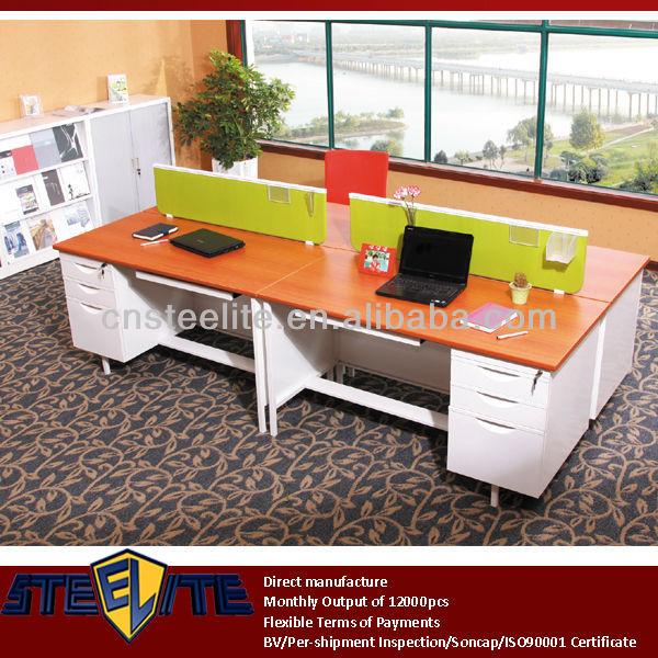 Best Quality Wooden Top Steel Desk
