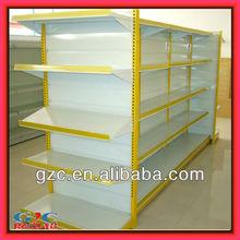 Double-sided Flat Back Supermarket Shelf Store Display Equipment Metal Gondola