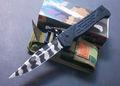 랑이 문신 대형 사이즈의 버전 m9 udtek01192 접는 나이프 서바이벌 나이프