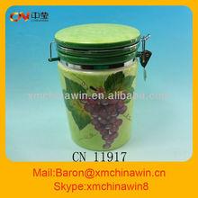 Green ceramic kitchen ware