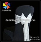 New Arrival Lace Chair Sashes White/Ivory for Wedding