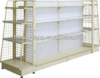 make up display stand/ cosmetic acrylic rack with wire mesh end shelf