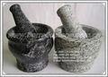 grado a de mármol con mortero y maja
