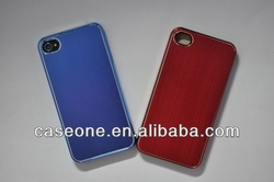 Shining Brushed Metal Case with plating for iphone 4/4s