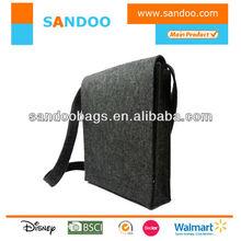 2013 simple wool felt messenger bag