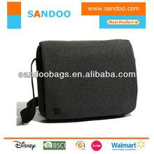 men simple wool messenger bag