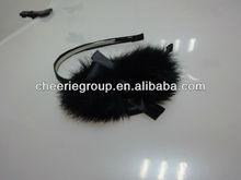 Mink fur hair accessories hair bands for girls, fluffy hair band
