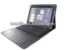 PU Leather Case with Bluetooth Keyboard for iPad 4 /3/2+sleep/wake feature