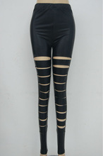 Black Hot Sex Fashion women Polyester Leggings with good quality and