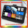 gps handheld navigator with android 4.0 dvr avin HD LCD Allwinner boxchip 1.2GHz 512RAM 8GB WIFI FM