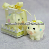 Funny Pig Candles Favors for baby shower and birthday party gift